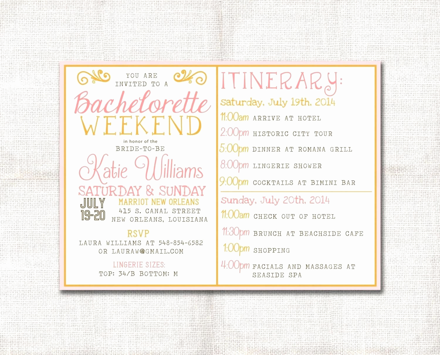 Bachelorette Party Itinerary Template Elegant Template Bachelorette Party Agenda Template Zoom Free