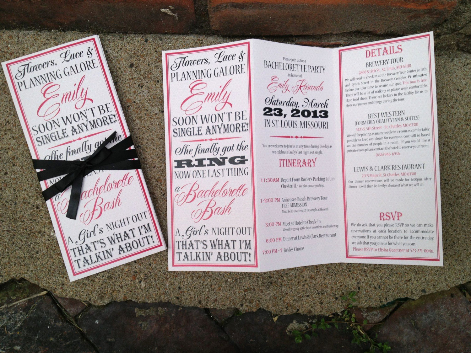 Bachelorette Party Itinerary Template Fresh Bachelorette Party Invite Trifolded Itinerary