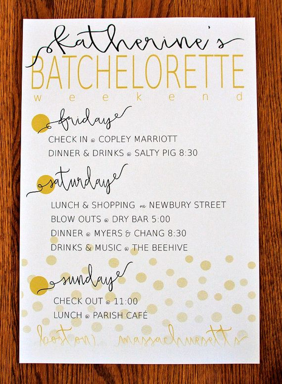 Bachelorette Party Itinerary Template Inspirational 25 Best Ideas About Bachelorette Itinerary On Pinterest