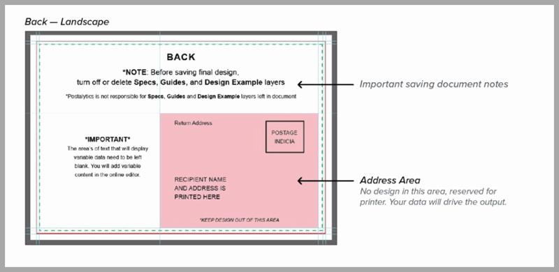 Back Of Postcard Template Awesome Direct Mail Design Templates You Can Edit In Postalytics