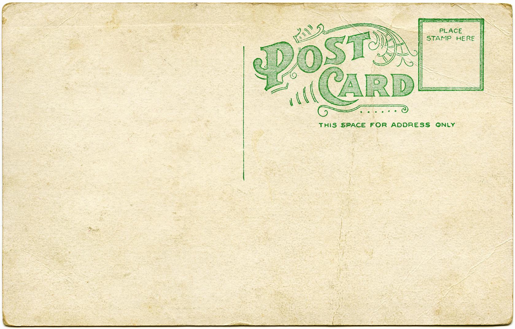 Back Of Postcard Template Awesome Vintage Postcard Ephemera Christmas Old Design Shop Blog