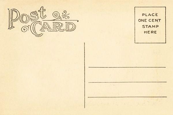 Back Of Postcard Template Beautiful Vintage Postcard Template