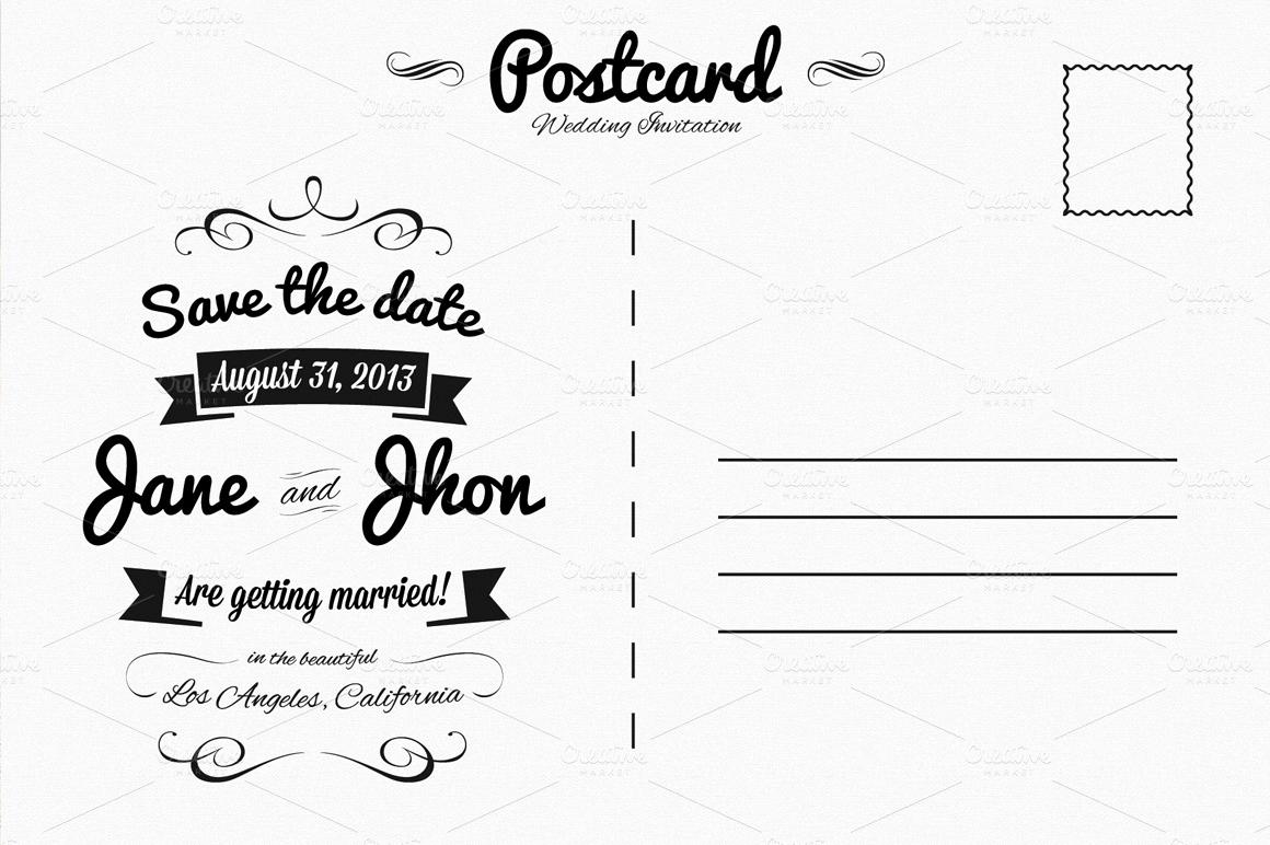 Back Of Postcard Template Lovely Elegant Wedding Invitation Postcard Invitation Templates
