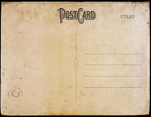 Back Of Postcard Template Luxury Vintage Postcard Template Back 2