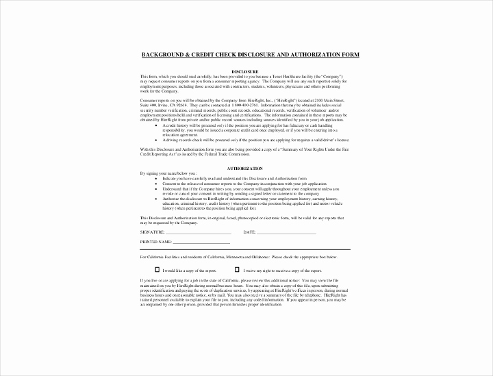 Background Check form Template Free New 9 Background Check Information forms & Templates Pdf