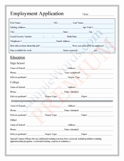 Basic Job Application Printable Lovely Application form for Job Premium