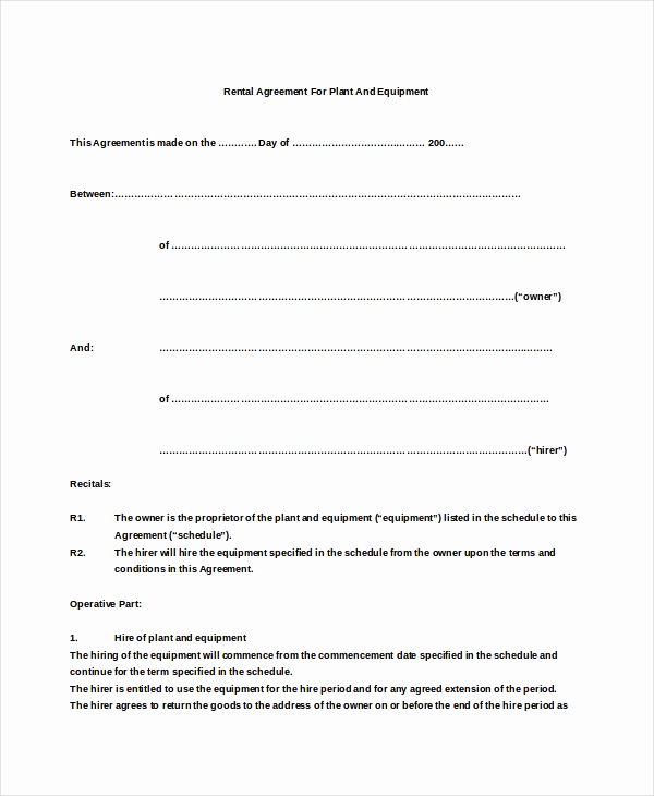 Basic Lease Agreement Template Beautiful 19 Basic Rental Agreement Templates Doc Pdf