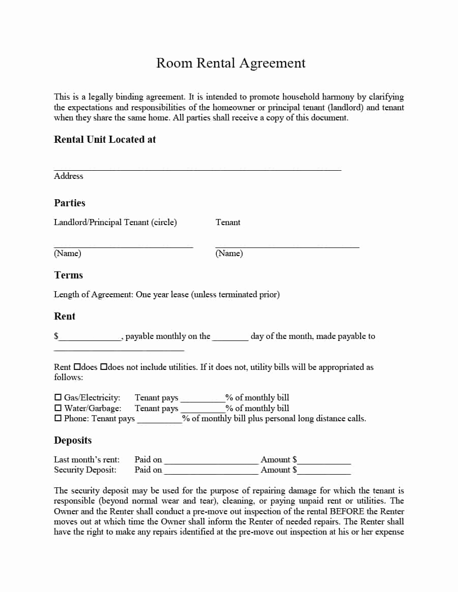 Basic Lease Agreement Template Best Of 39 Simple Room Rental Agreement Templates Template Archive