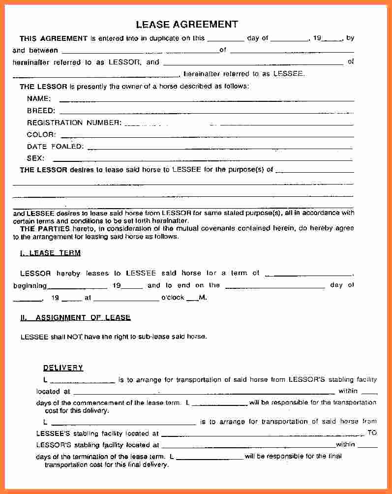 Basic Lease Agreement Template Inspirational 8 Rental Lease Agreement Pdf