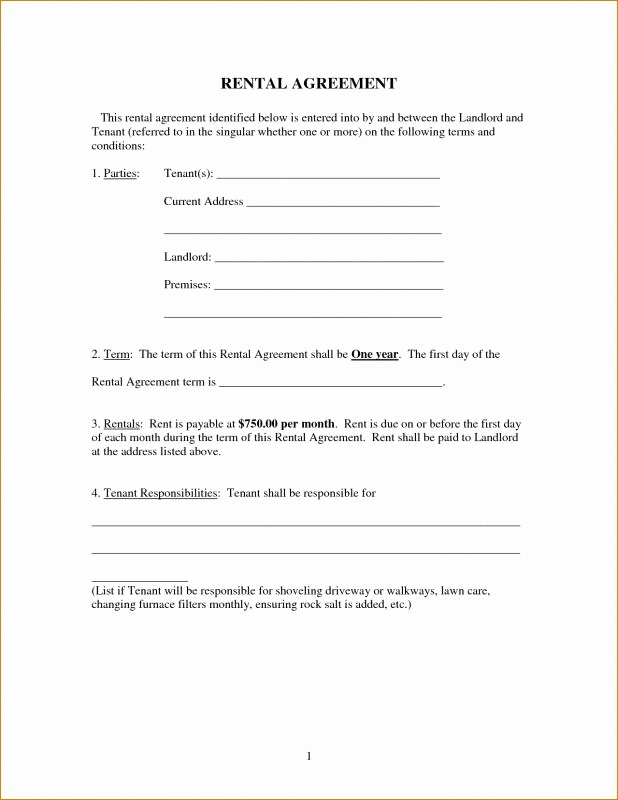 Basic Lease Agreement Template Unique Free Printable Basic Rental Agreement