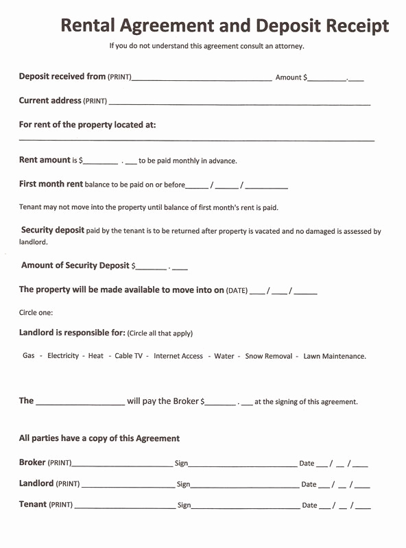 Basic Rental Agreement Pdf Awesome Free Rental forms to Print