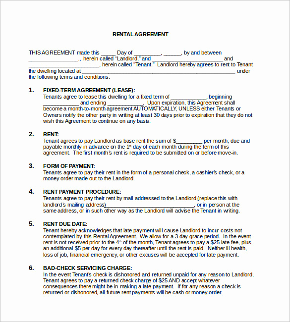 Basic Rental Agreement Pdf Beautiful Free Rental Agreement Template 20 Free Word Pdf