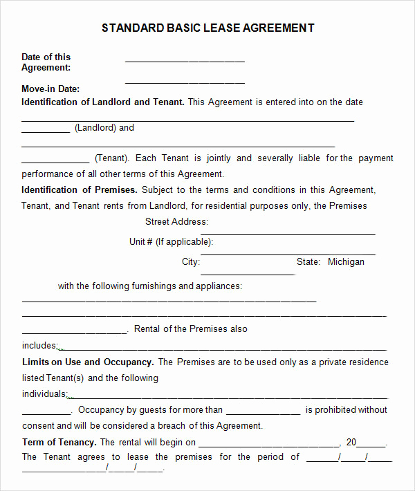 Basic Rental Agreement Pdf Elegant Leasing Agreement 7 Free Pdf Download