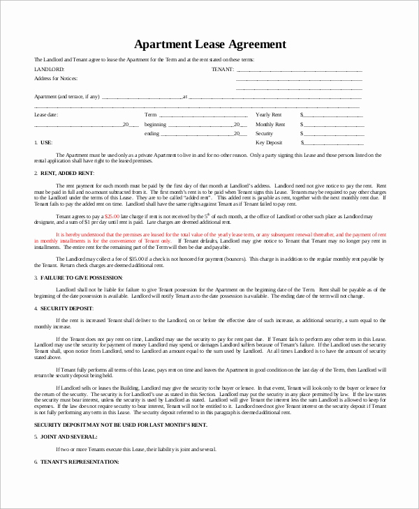Basic Rental Agreement Pdf Fresh Sample Basic Lease Agreement 12 Examples In Word Pdf