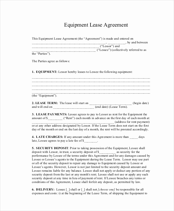 Basic Rental Agreement Pdf Inspirational 20 Basic Lease Agreement Examples Word Pdf