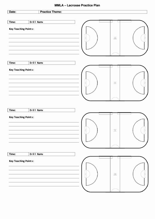 Basketball Practice Plan Templates Beautiful Mmla Lacrosse Practice Plan Printable Pdf