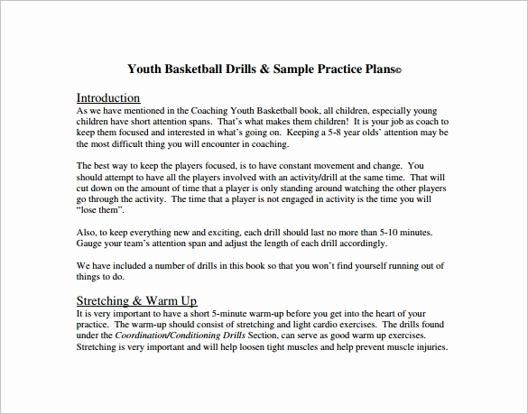 Basketball Practice Plan Templates Lovely Basketball Practice Plan Template 3 Free Word Pdf