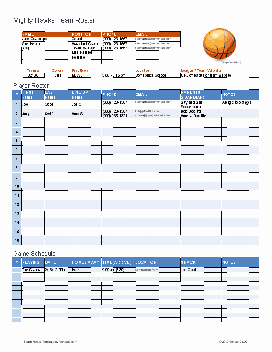 Basketball Practice Plan Templates Unique Create A Printable Basketball Roster with This Excel