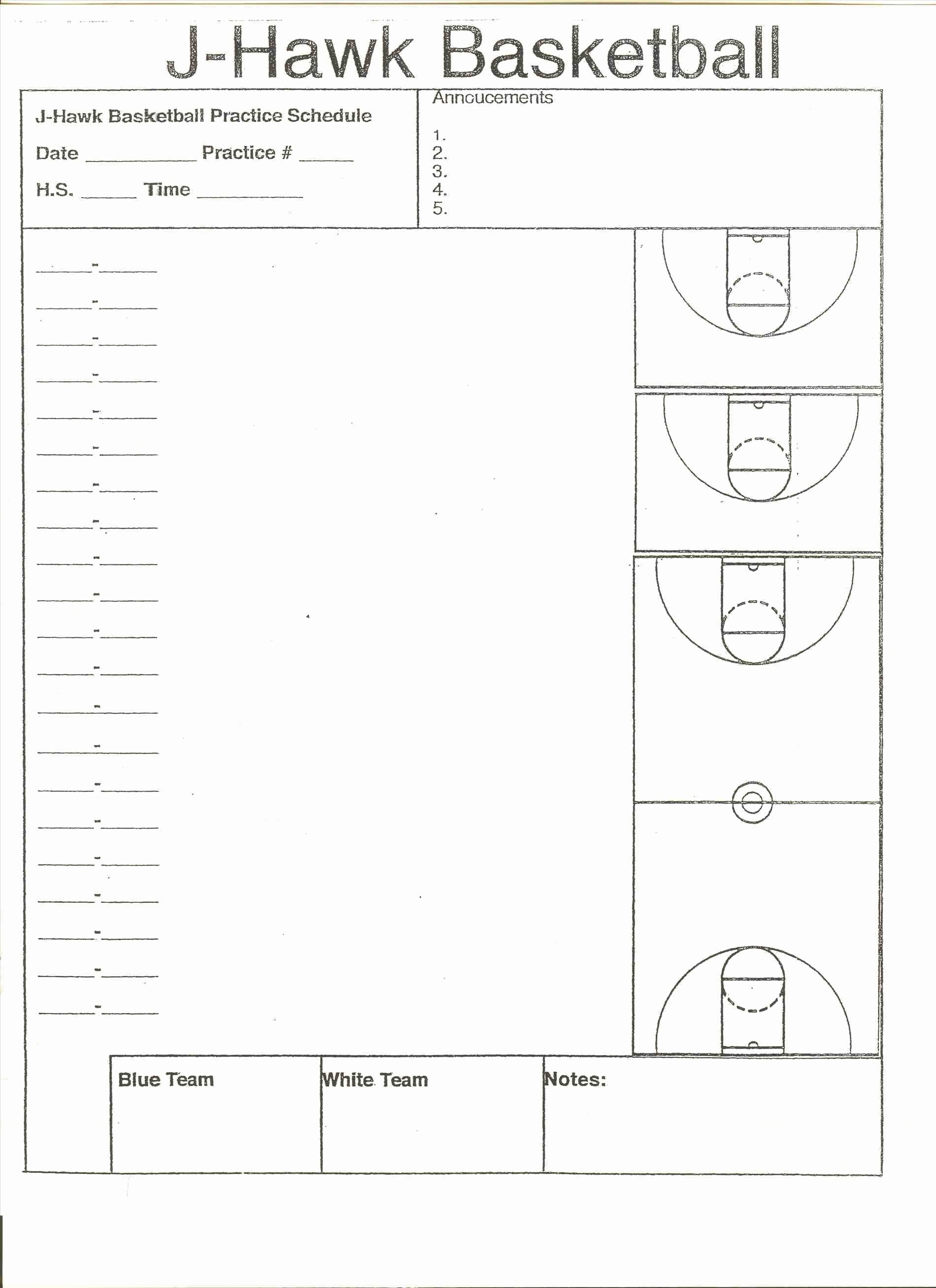 Basketball Practice Plans Template Beautiful Stirring Practice Plan Template Tinypetition