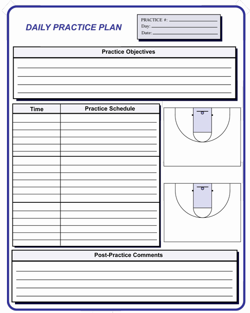 Basketball Practice Plans Template New Basketball Coaching forms