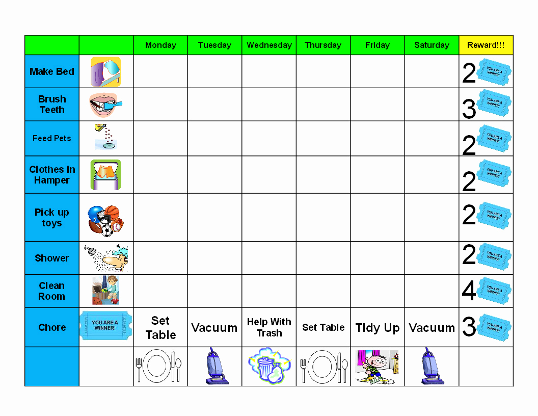 Behavior Charts for Home Awesome Printable Behavior Charts