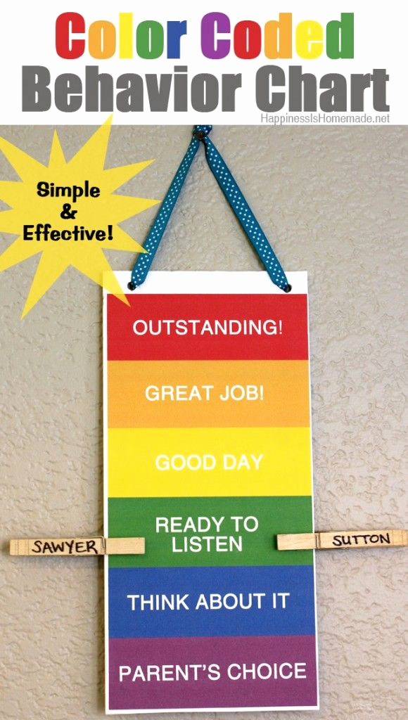 Behavior Charts for Home Lovely Printable Color Coded Behavior Chart