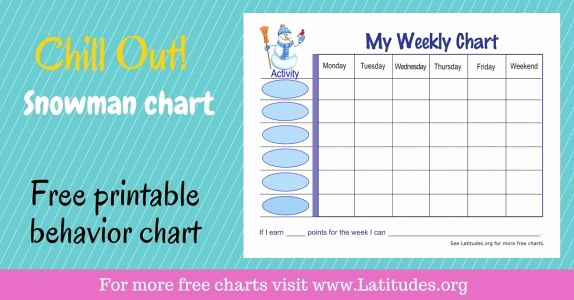 Behavior Charts for Home Luxury Free Printable Behavior Charts for Home and School