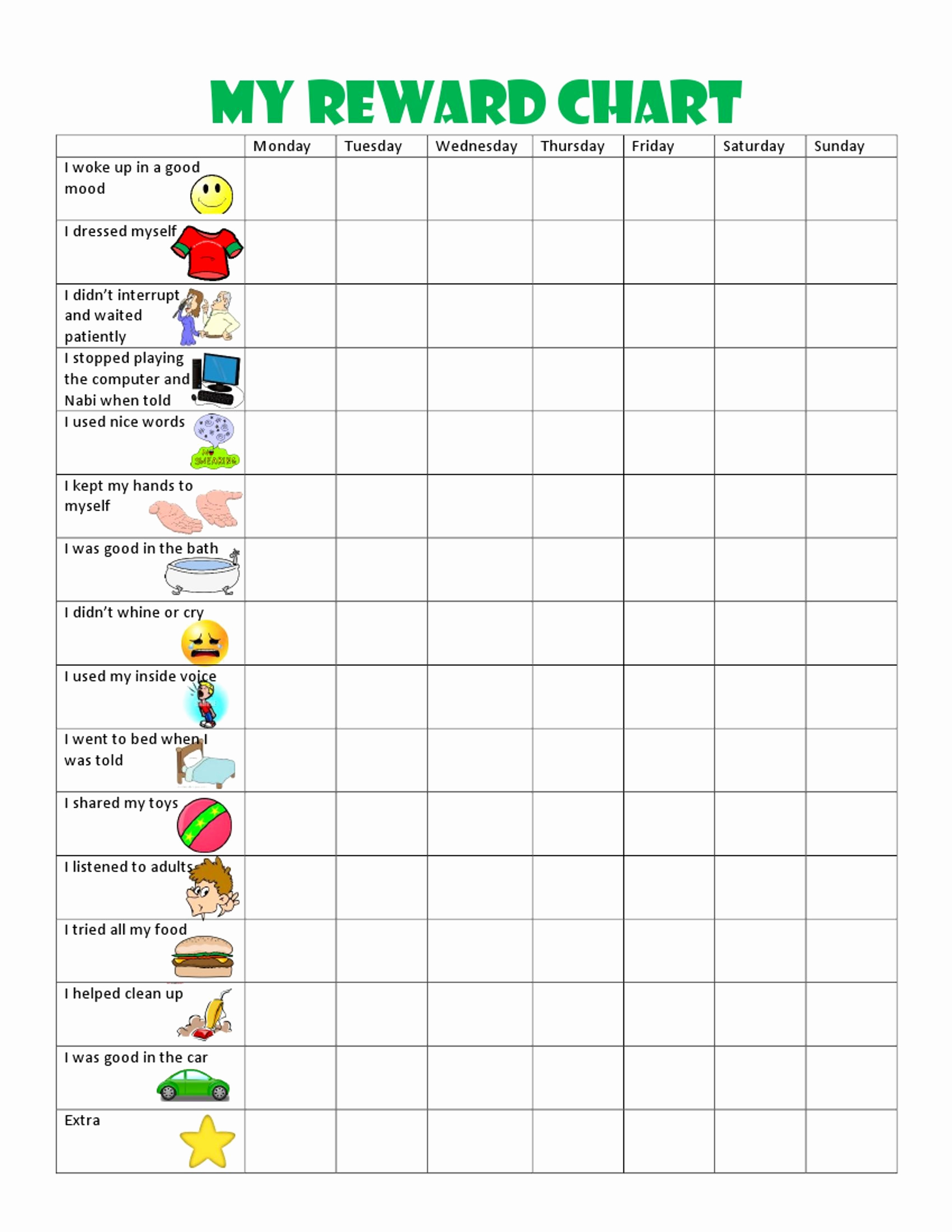 Behavior Charts for Home Unique Kids Behavior Chart This Behavior Chart Changed Our Family