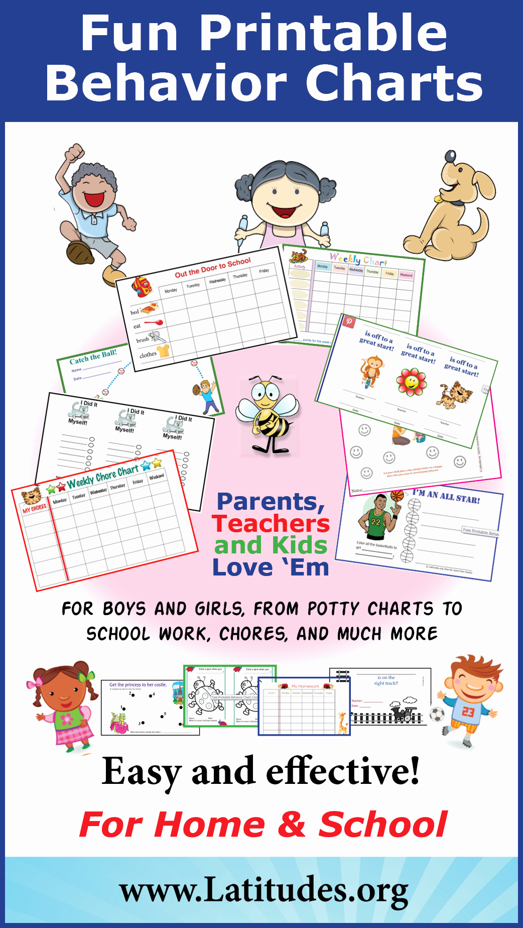 Behavior Charts for Teachers Awesome Free Printable Behavior Charts for Home and School