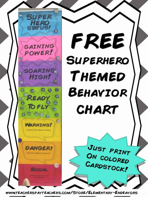 Behavior Charts for Teachers Best Of 15 Must See Superhero Behavior Chart Pins