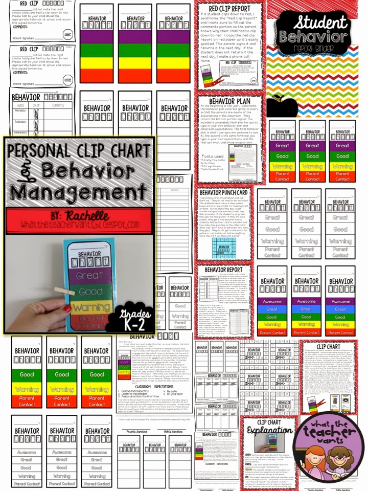 Behavior Charts for Teachers Fresh What the Teacher Wants Personal Clip Chart and Behavior
