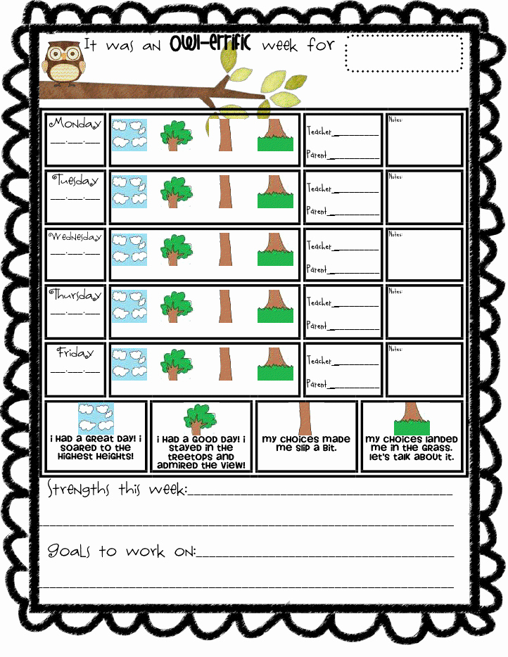 Behavior Charts for Teachers Inspirational the Go to Teacher Addition to Owl Behavior Chart