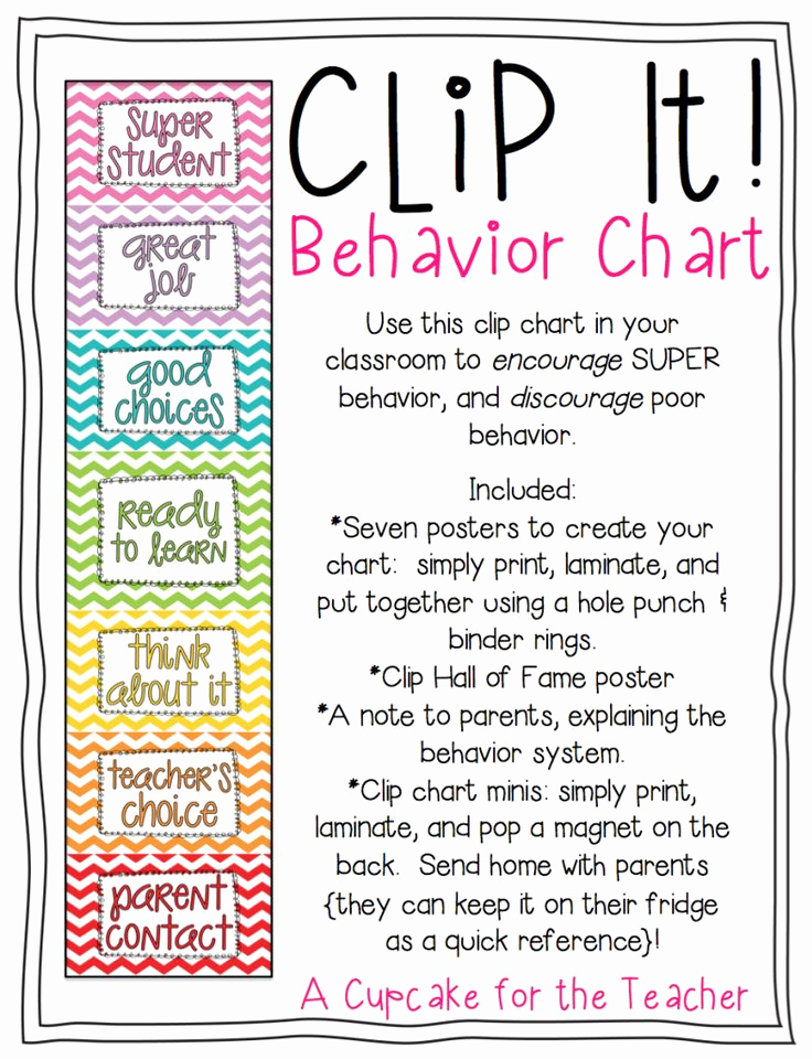 Behavior Charts for Teachers Luxury 17 Best Ideas About Chevron Behavior Charts On Pinterest