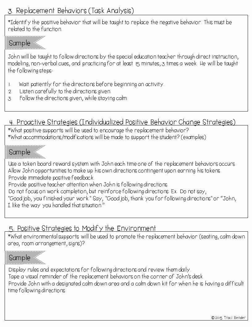 Behavior Intervention Plan Example Lovely the Bender Bunch Creating A Behavior Intervention Plan Bip