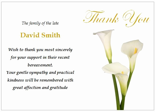 Bereavement Thank You Cards Fresh 16 Best Funeral Thank You Card Images On Pinterest