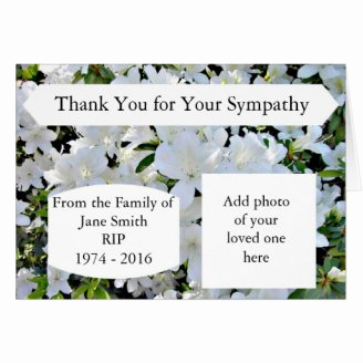 Bereavement Thank You Cards Lovely Bereavement Thank You Notes for Cards Flowers and