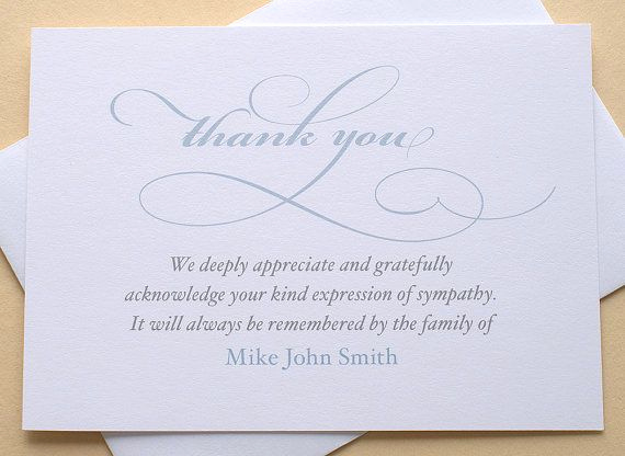 Bereavement Thank You Cards New 25 Best Ideas About Sympathy Thank You Notes On Pinterest