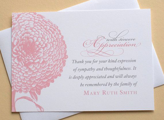 Bereavement Thank You Cards New Best 25 Sympathy Thank You Notes Ideas On Pinterest
