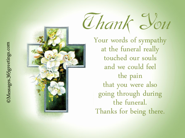 Bereavement Thank You Notes Beautiful Funeral Thank You Notes 365greetings