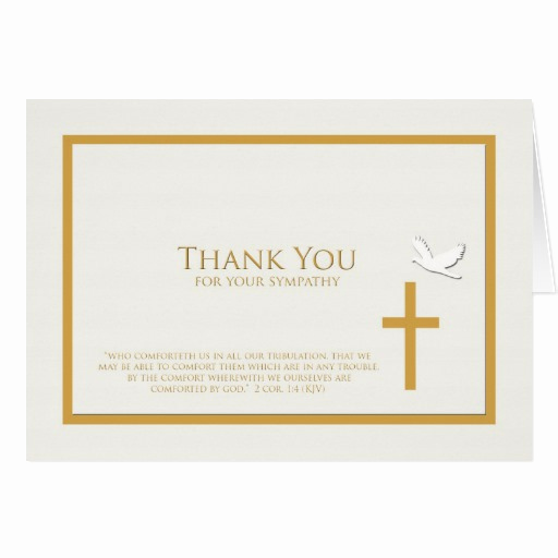 Bereavement Thank You Notes Best Of Sympathy Thank You Note Card Christian
