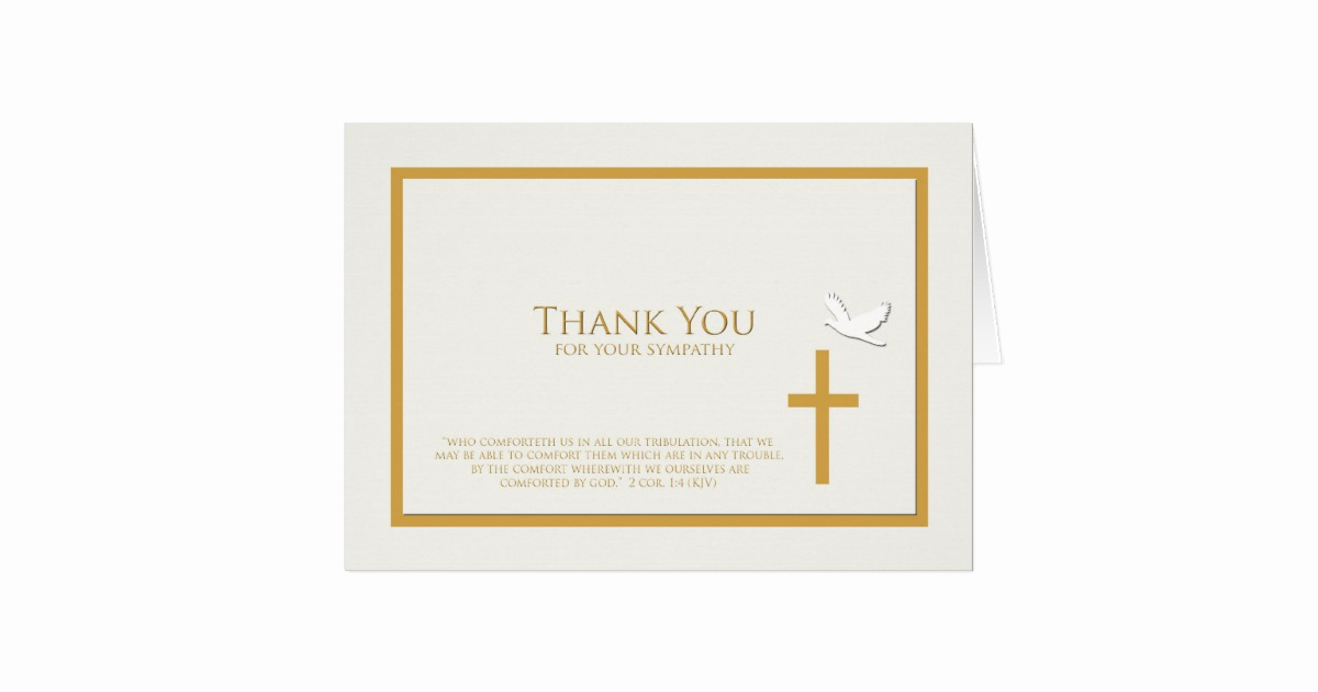 Bereavement Thank You Notes Inspirational Sympathy Thank You Note Card Christian