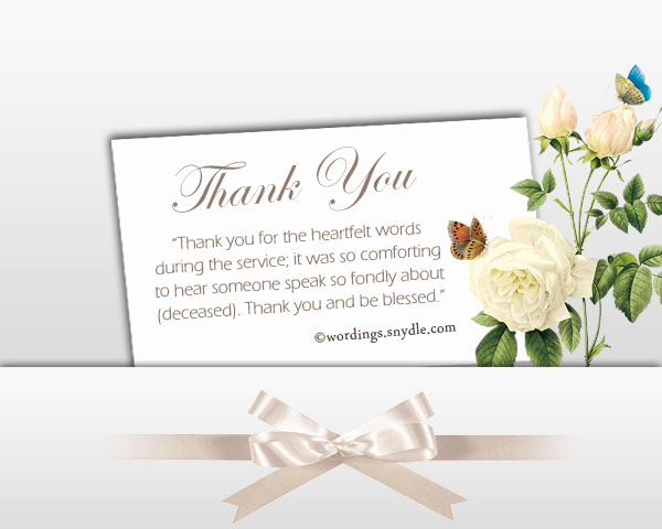 Bereavement Thank You Notes Luxury Sympathy Thank You Notes Wordings and Messages