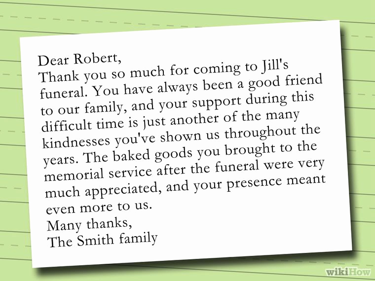Bereavement Thank You Notes Unique Write A Thank You Note after A Funeral Notes