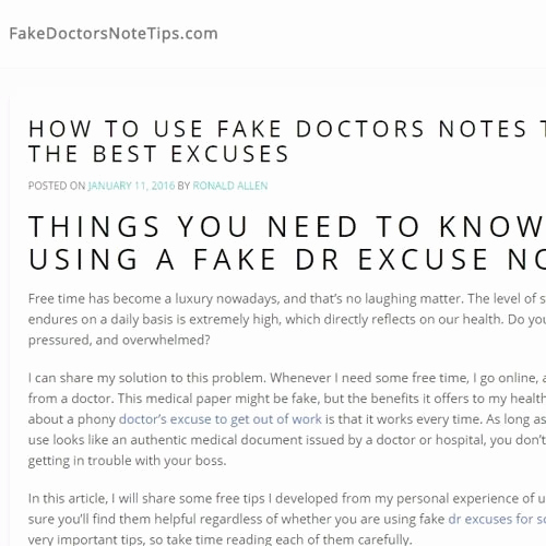 Best Fake Doctors Notes Awesome A Fake Doctor S Note Can