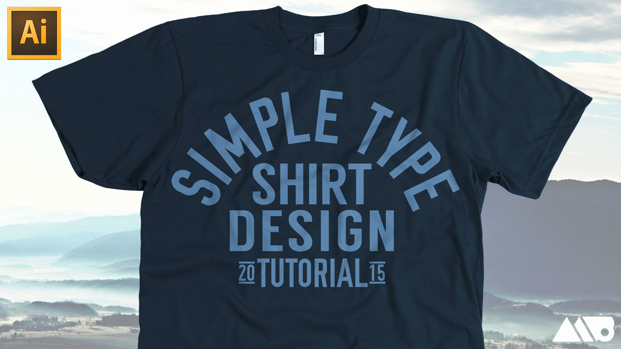 Best Fonts for T Shirts Luxury Simple Type T Shirt Design In Adobe Illustrator Tutorial