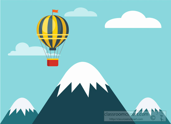 Best Free Clip Art Awesome Geography Clipart Hot Air Balloon Flying top Of Mountain
