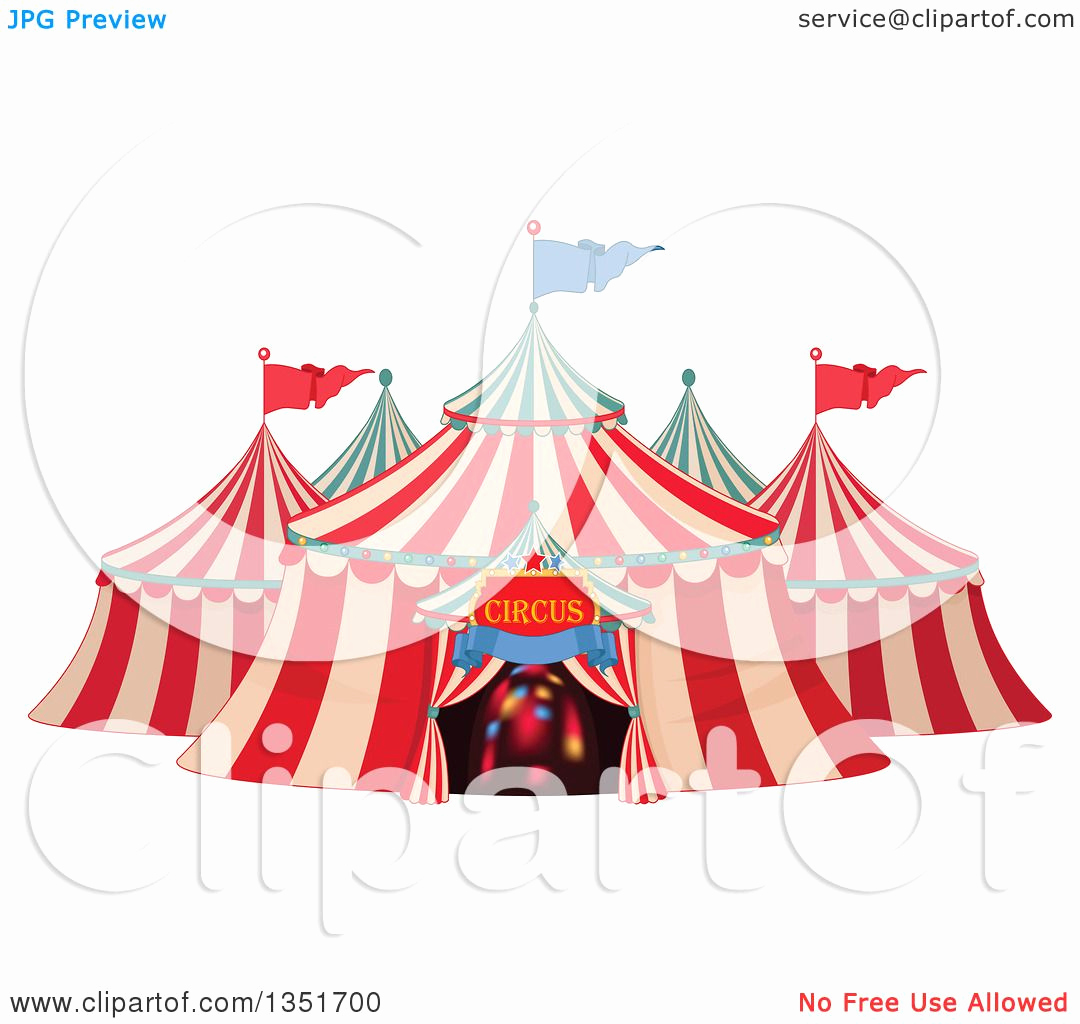 Best Free Clip Art New Clipart Of A Cartoon Big top Circus Tent with Lights In