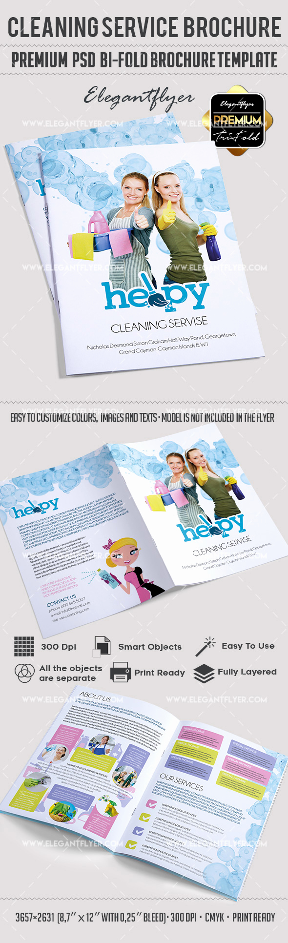 Bi Fold Brochure Template Unique Cleaning Services Bi Fold Template – by Elegantflyer