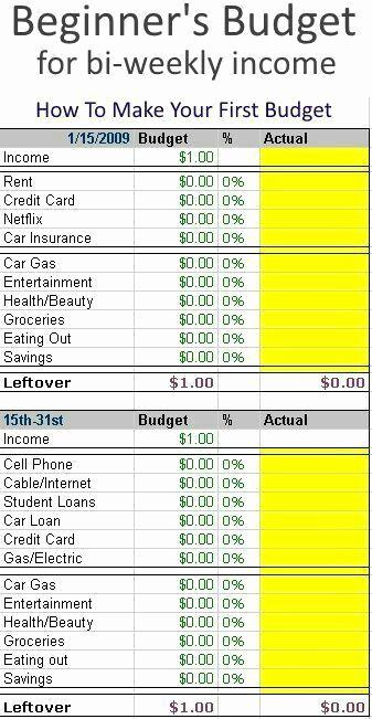Bi Weekly Budget Template Luxury Teach Kids How to Go by A Bud