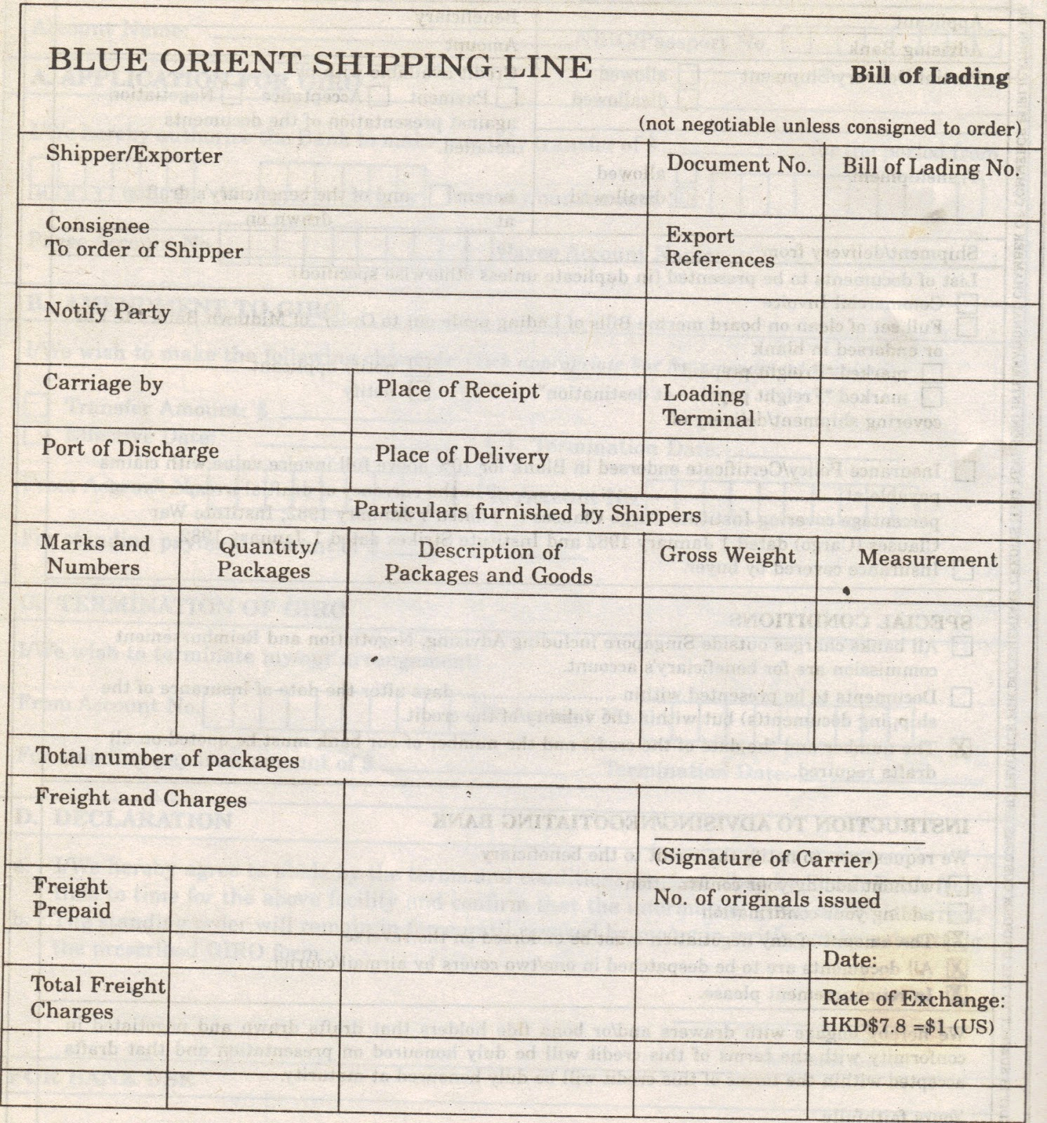Bill Of Lading Sample Best Of Simple topic April 2012